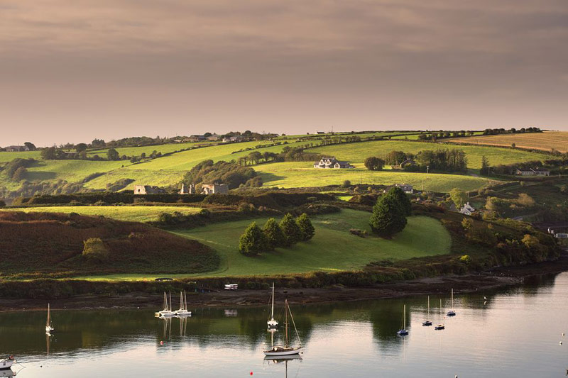 View of sail boats in Kinsale Harbour, Co Cork